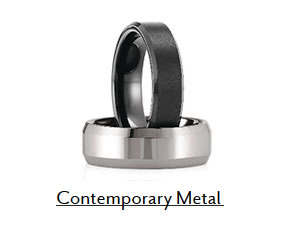 Contemporary Metal Wedding Bands Boise